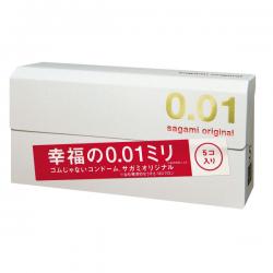 Bao cao su Sagami Original 0.01 siêu mỏng vô đối (5 chiếc)