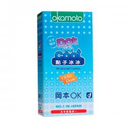 Bao cao su Okamoto Dot De Cool gai lạnh kéo dài quan hệ (10 chiếc)