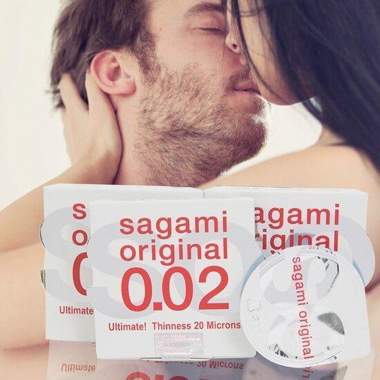 Bao cao su Sagami Original 0.02 mỏng nhất thế giới (6 chiếc)