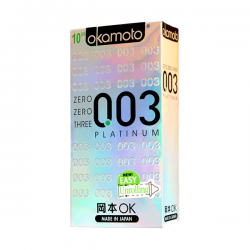 Bao cao su Okamoto Platinum 0.03 siêu mỏng (10 chiếc)