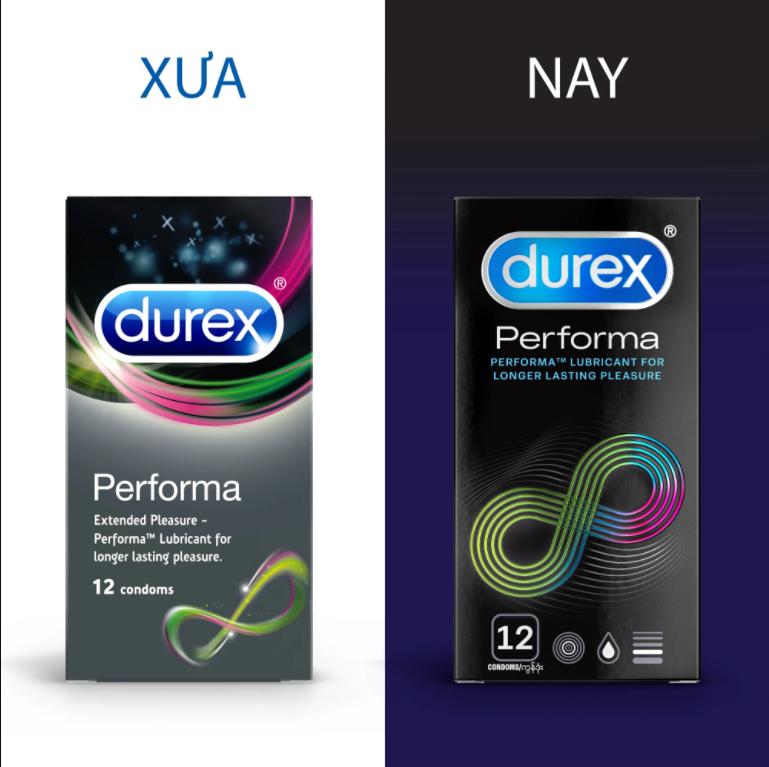 Bao cao su Durex Performa kéo dài thời gian quan hệ (12 chiếc)