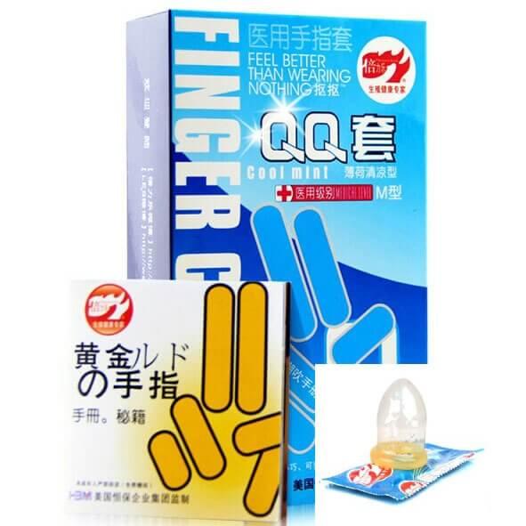 Bao cao su đeo ngón tay, bao cao su dành cho ngón tay kích thích