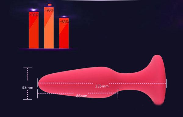 chi tiết kích thước dụng cụ kích thích hậu môn LoveAider
