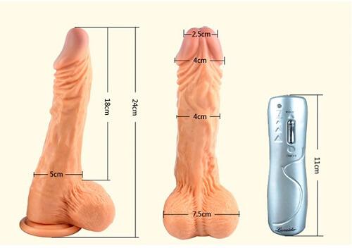 chi tiết kích thước của dương vật giả size to