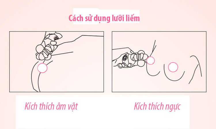 cách sử dụng lưỡi liếm kích thích âm đạo Kiss