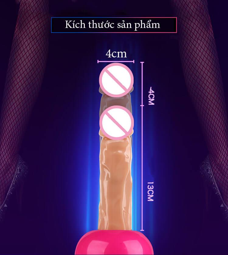 Thò thụt lên tới 4cm, kích thích điểm G siêu mạnh