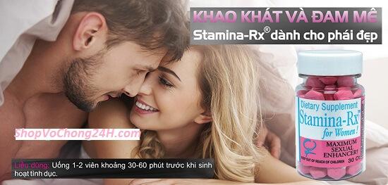 Stamina RX cho nữ giới, cho chàng thỏa mãn dục vọng