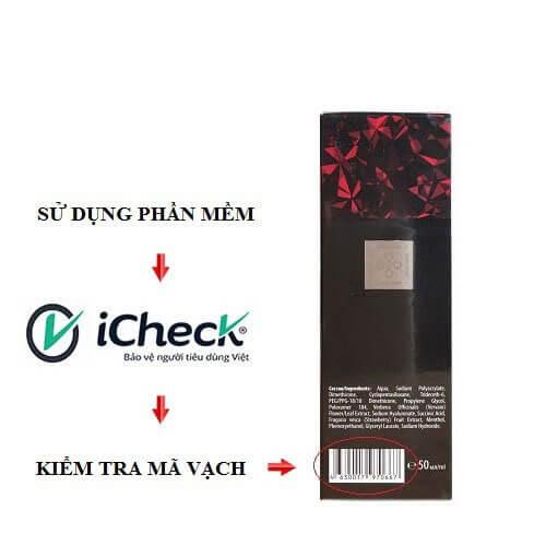 Sử dụng phần mềm icheck để kiểm tra titan gel nga chính hãng