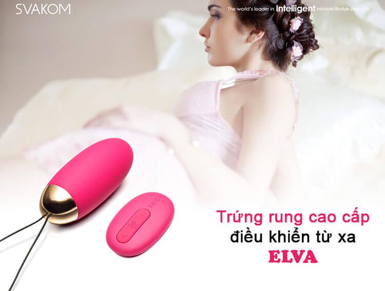 rrứng rung tình yêu Svakom Elva có điều khiển từ xa
