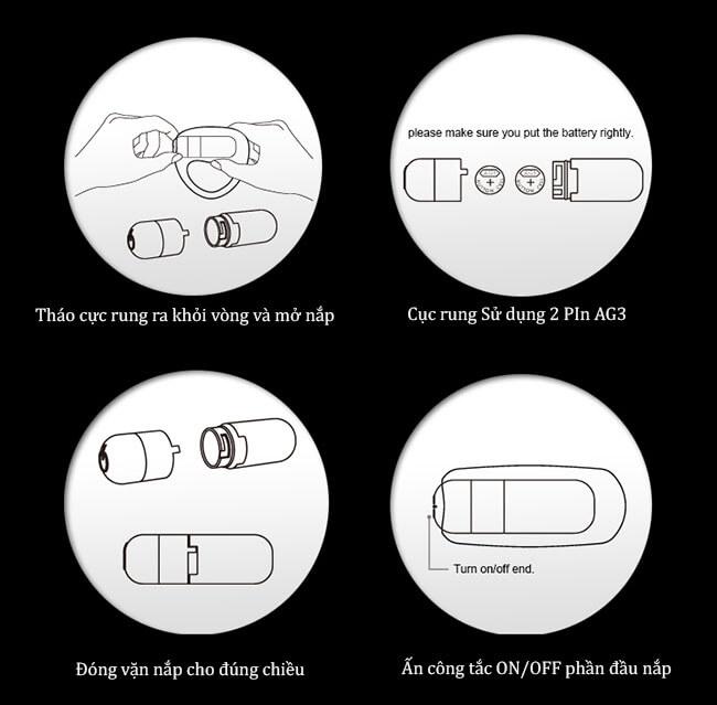 Hướng dẫn sử dụng gốc dương vật Nalone Ping