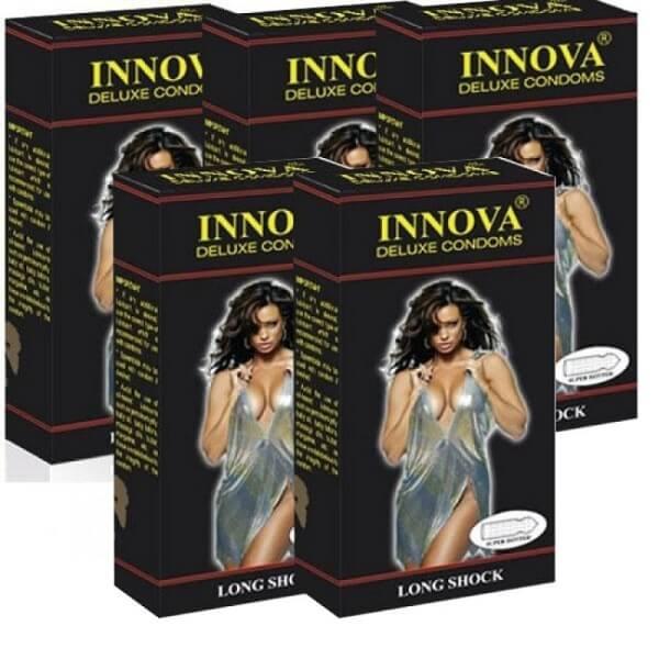 Bao cao su innova đen (hộp 12 chiếc) tăng thời gian quan hệ