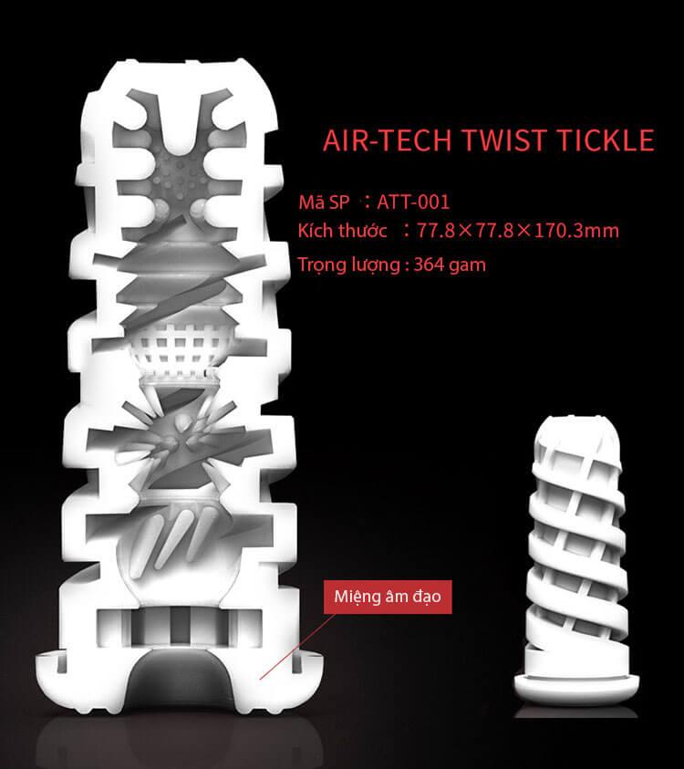 Cốc thủ dâm Tenga Airtech Twist cắt lớp phía trong