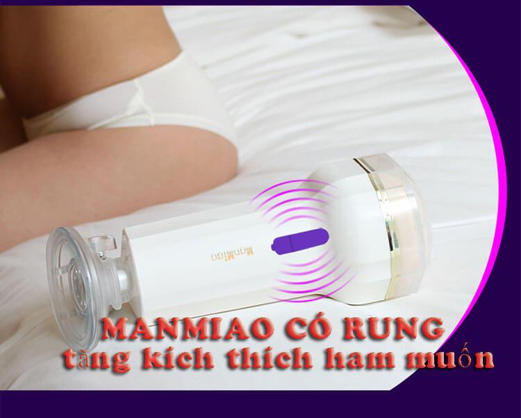 máy thủ dâm Manmiao X3 màu trắng có thêm chức năng rung