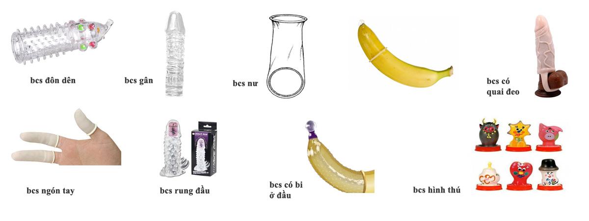 Hình dạng các loại bao cao su