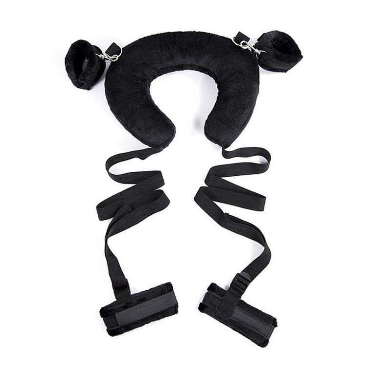 bộ bạo dâm khóa chân tay cổ màu đen